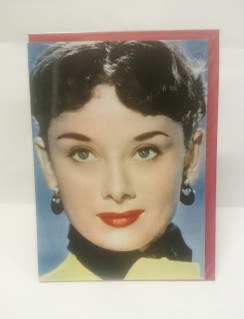 Audrey Hepburn blank card with envelope