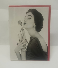 Striking the perfect pose, 1960 blank card with envelope
