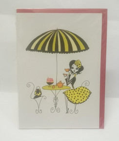 Tea in Paris blank card with envelope