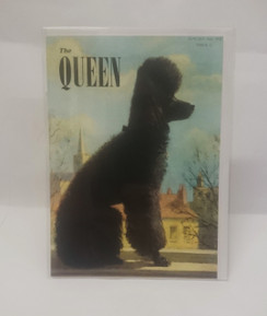 The Queen, 'poodle' 1952 blank card with envelope
