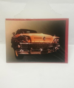 Vintage Automobile blank card with envelope