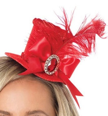 c9b55be6327c2 Red mini top hat - Victorian Gothic Store