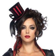 Burlesque stripe top hat