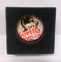 Gorilla Woman domed paperweight in presentation box