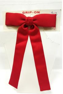 Red Kentucky clip on bow tie