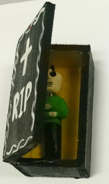 Day of the dead RIP Punk in box open