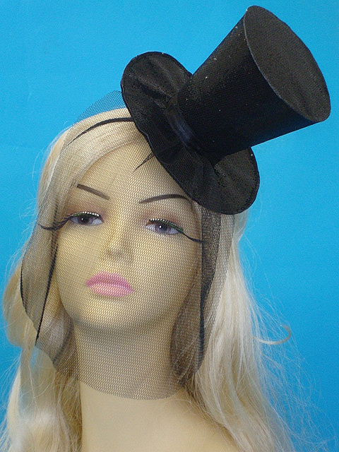 97725b899a3c8 Glitter top hat with veil - Victorian Gothic Store