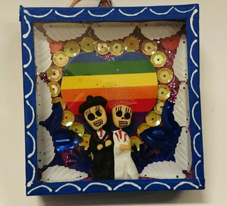 Day of the dead Nicho Box 2 Grooms