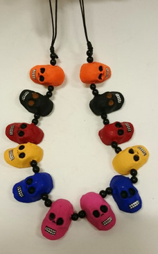Day of the dead Colourful Skull Necklace
