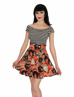 Scaredy Cat Skater Skirt front