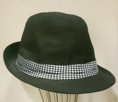 Fedora with Chequered Band - One Size