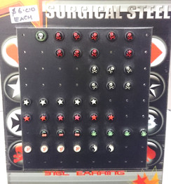 Plug style double sided studs