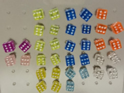 Dice Stud Earrings - Pair