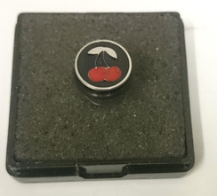 Metal Plug Black with Cherry - Small Top