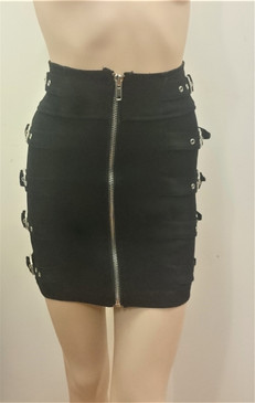 Buckle Mini Skirt front