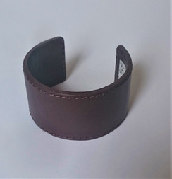Brown Leather horseshoe cuff