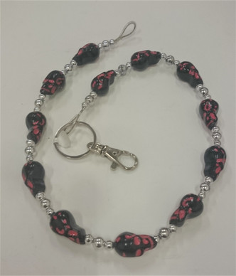 Black and Red Skulls Keychain