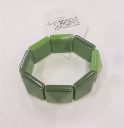 Green pyramid tile elasticated cuff
