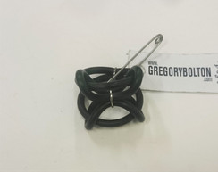 Gregory Bolton Rubber Ring Brooch