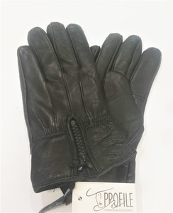 Black Vinyl Gloves with zip