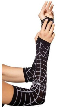 Leg Avenue opaque printed web armwarmers