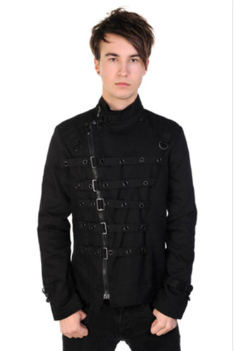 Banned Mens Metal Cuff Jacket