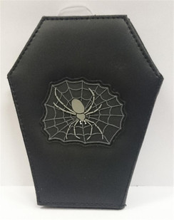 Coffin Wallet with Spider and Web