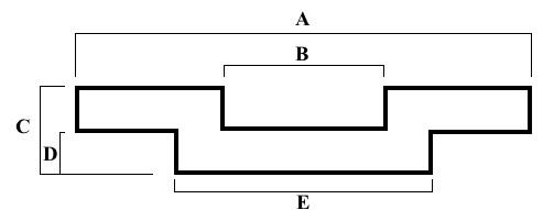External Brass Sail Track Dimensions