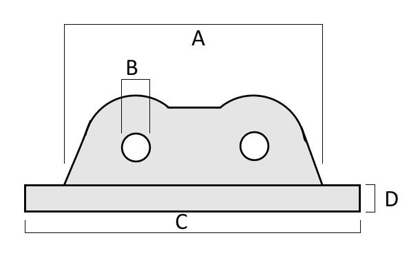 Spartan Marine Chain Plate