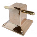 Polished bronze mooring bit