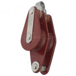 Double tufnol block with swivel & becket
