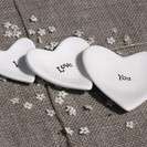 I Love You Stackable Mini Dishes, Set of 3
