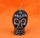 Small Black Sugar Skull Candle