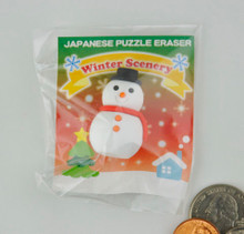 Snowman Puzzle Eraser