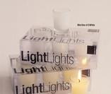 Mini Lights - Glass White Votives, Boxed Set of 6