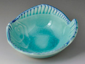 Flounder Turquoise Condiment Bowl