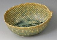 Ash Green Leaf Bowl