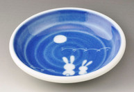 Cobalt Blue Rabbit & Moon Dish