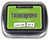 Little Box of Encouragement Word Magnets