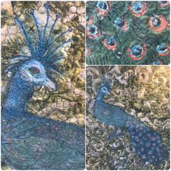 Machine Embroidered Peacock, 25th March.