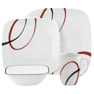 Corelle Fine Lines 16pc Square Dinner Set