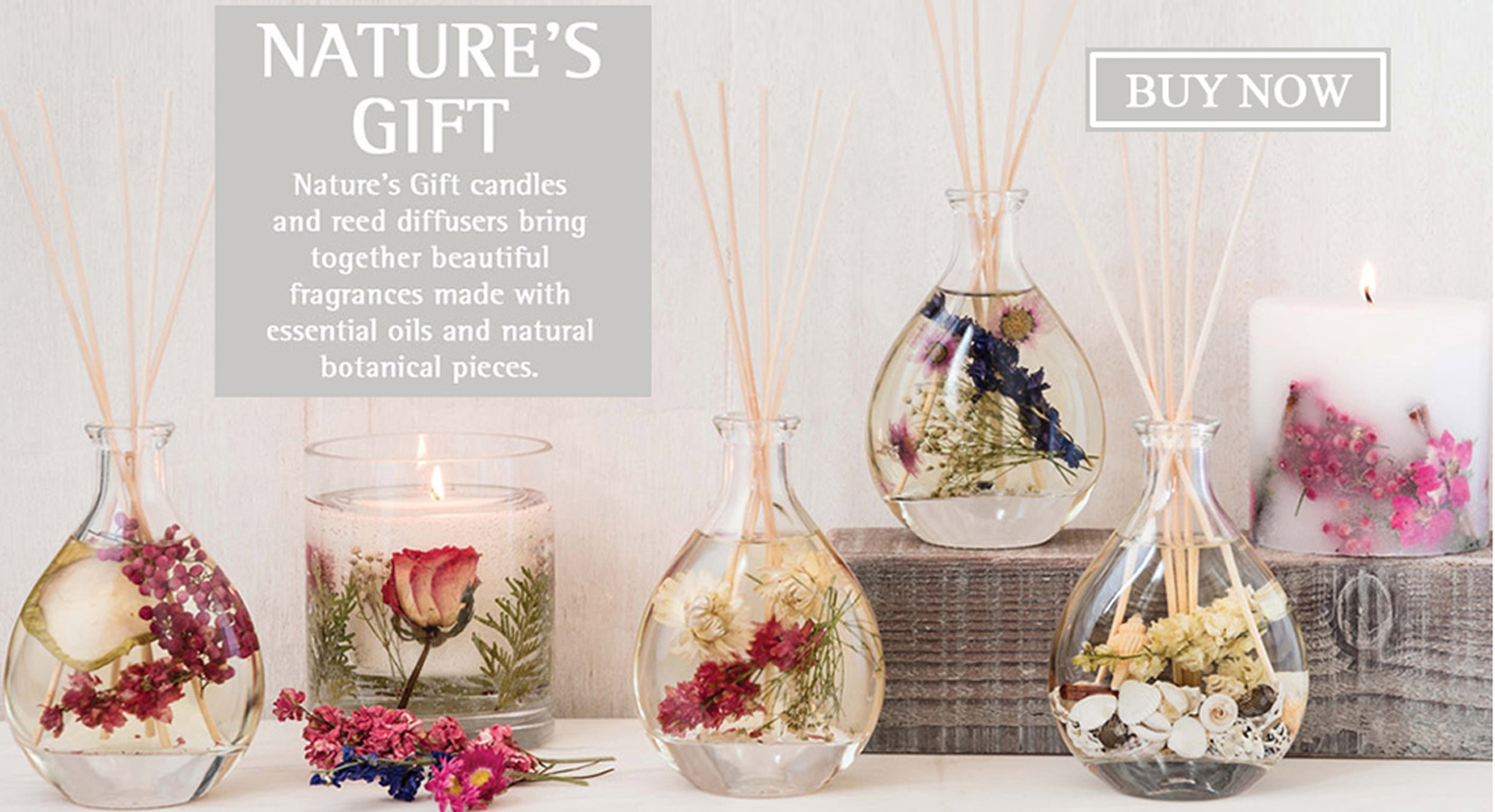 Natuer's Gift scented candles & diffusers