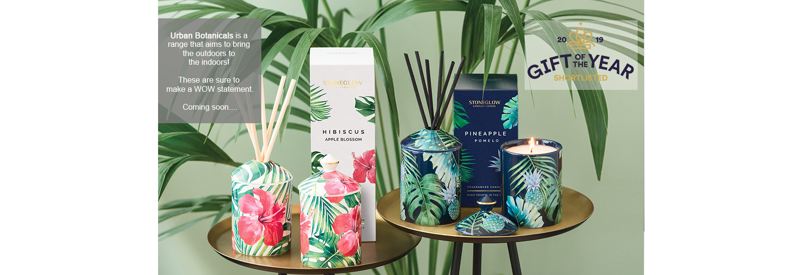 Urban Botanicals Scented Candles - Gift of the Year Shortlisted