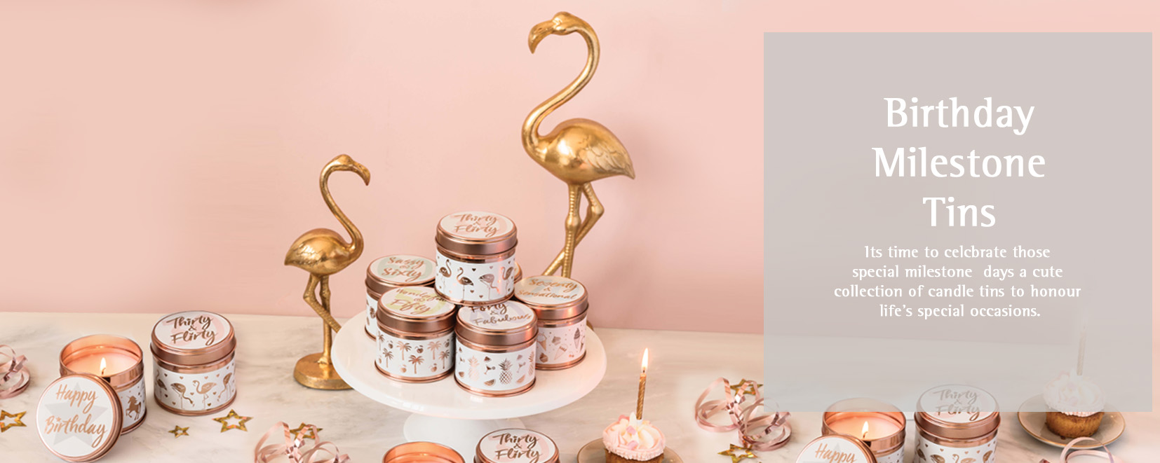 Birthday Milestone Candle Tins