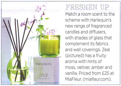 Harlequin Scented Candles in Period Living Magazine