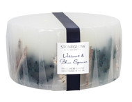 Stoneglow Candles - Seasonal Collection Vetivert & Blue Spruce Natural 3-Wick Pillar