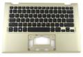 Dell Inspiron 11 3157 / 3158 Gold Palmrest W/ US Keyboard - NF7H2 K3GMN