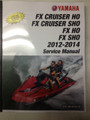 2012-2014 Yamaha WaveRunner FX Cruiser HO / FX Cruiser SHO / FX HO / FX SHO Part# LIT-18616-03-41 service shop repair manual