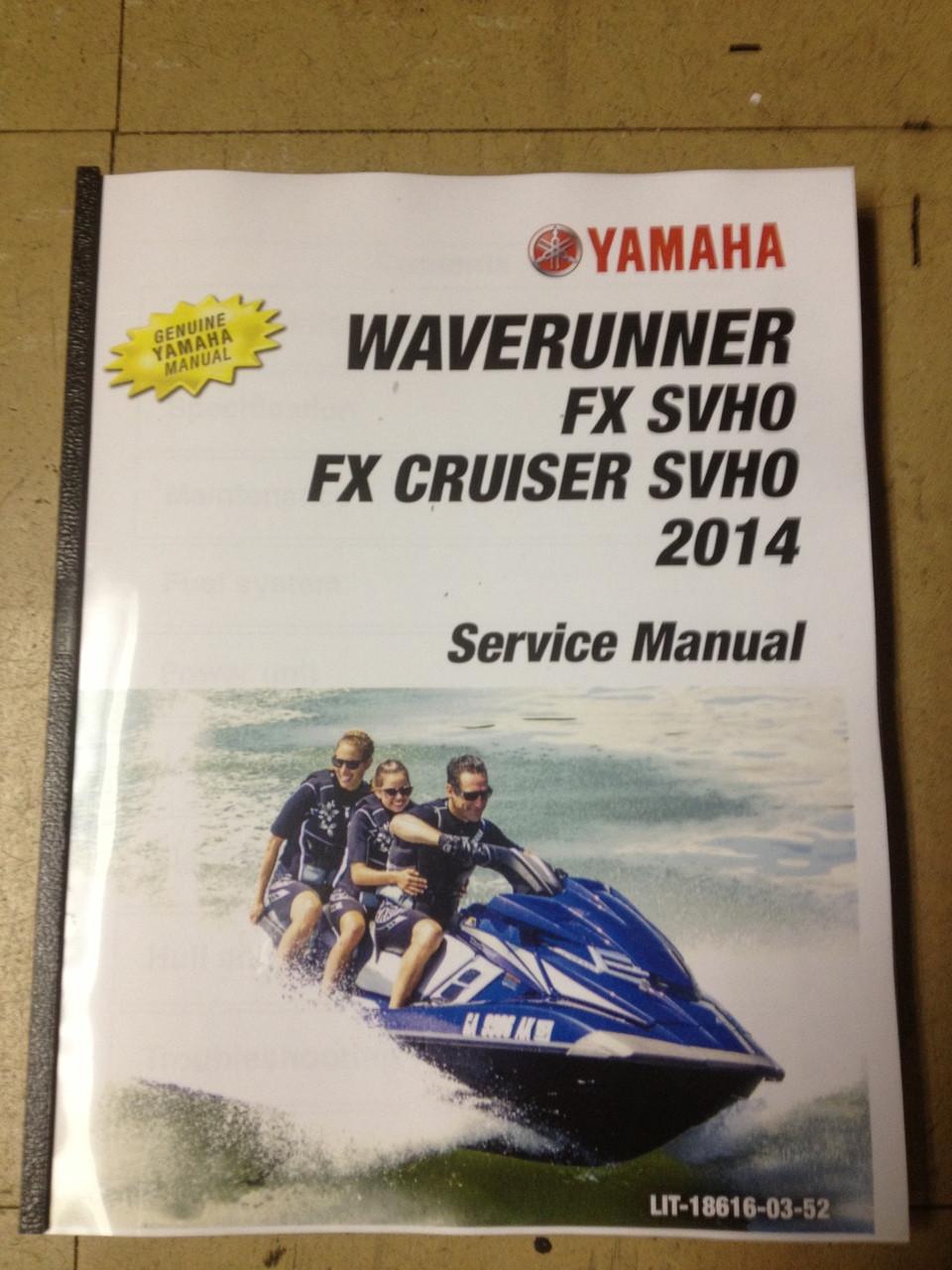 2014 yamaha waverunner fx cruiser svho fx svho part lit 18616 rh service shop repair manual com 2014 Yamaha FX Ho 2014 Yamaha FX Ho