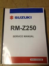 2010-2018 Suzuki RM-Z250 Part# 99500-42193-03E service shop repair manual